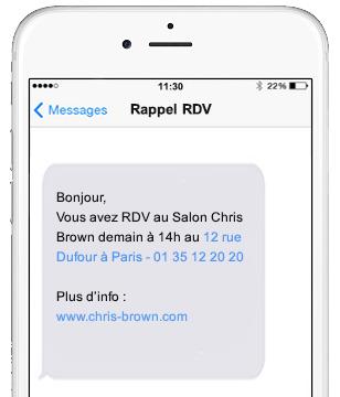 Rappel de RDV par SMS